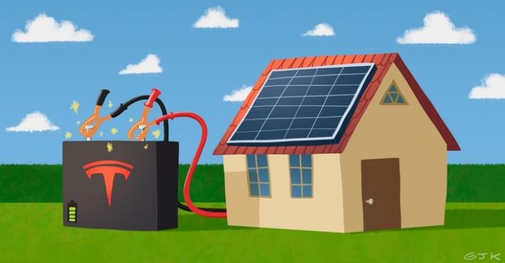 Tesla, batería, energía, electricidad, paneles solares, ERNC