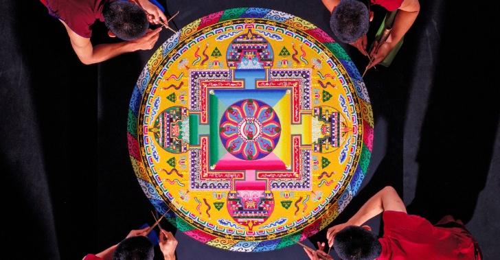 Mandalas, arte, pintar, terapia