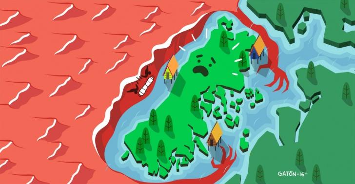 chiloé, chile, marea, roja, sur, región, los, lagos, mariscos, machas, algas, salmones