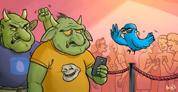 Twitter, redes sociales, trolls, acoso cibernético, censura