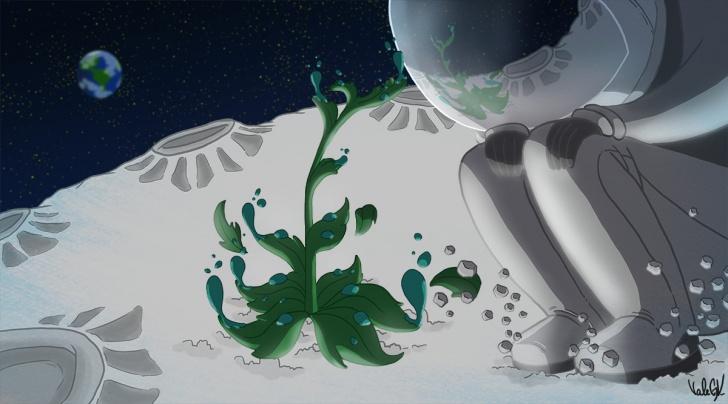 Espacio, luna, astronomía, universo