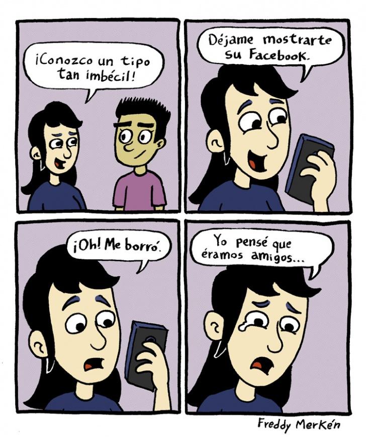Facebook, Amigo, Agregar, Borrar, Pena, Imbécil