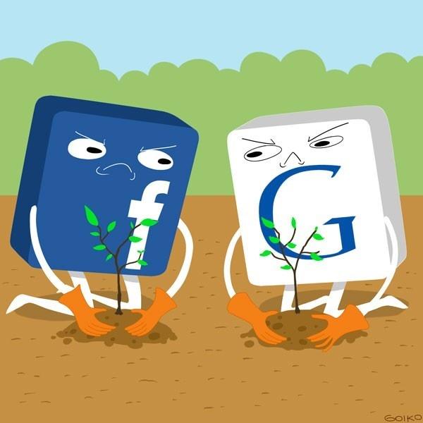 google, facebook, guerra verde, medioambiente, políticas, ecología