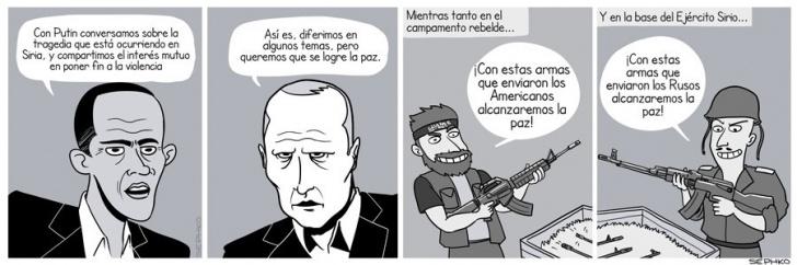 Guerra, Siria, Obama, Putin, Paz, Armas