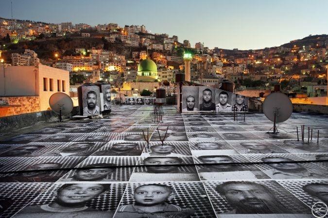 InsideOut, JR, arte callejero, fotos, protesta, pacífica