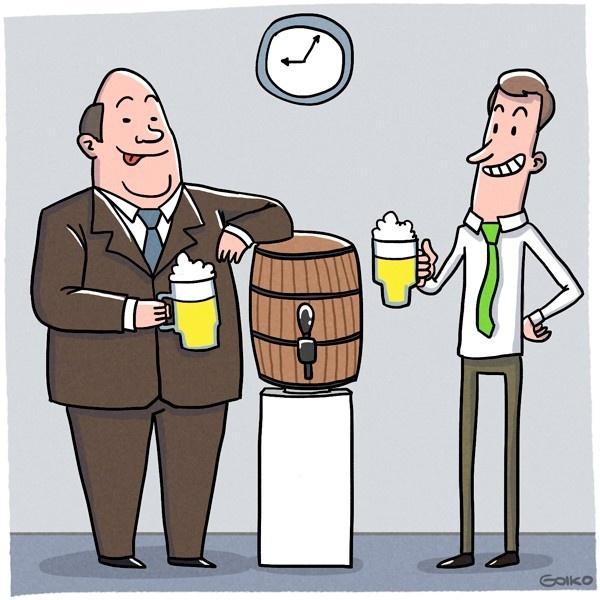 Happy hour, oficinas, cerveza, Estados Unidos, trabajo, empleados, alcohol, tendencias