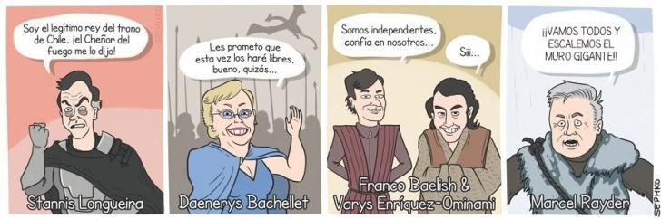 Presidenciales, Longueira, Bachelet, MEO, Parisi, Claude, Chile, Elecciones
