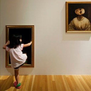 mona lisa, museo, japón, tokio, niños, ghosts underpants and stars, exhibición, arte, cultura, fantasmas