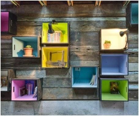 Caja de madera, decoración, reciclar, sustentable, original