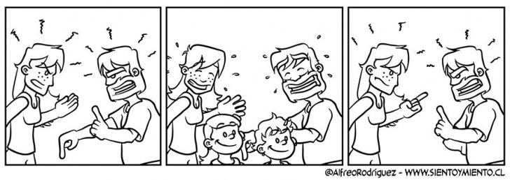 familia, padres, hijos, niños, peleas, conflictos