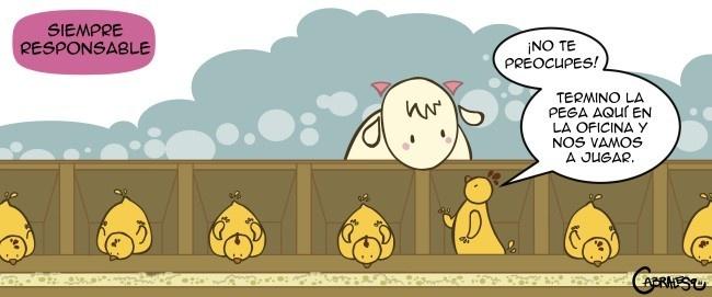 pollo, cabrita, humor, comic