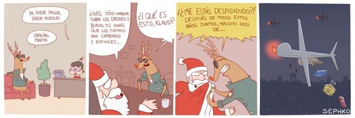 Navidad, Drones, Guerra, Reno, Rodolfo, Tradiciones, Moderno, Santa