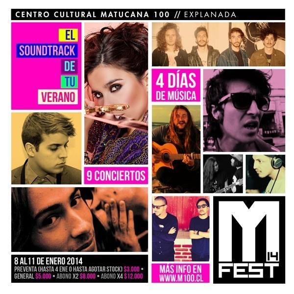 Festival Matucana 100, música, enero, conciertos