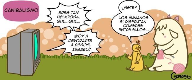 canibalismo, pollo, pollito, cabrita, teleseries, telenovelas