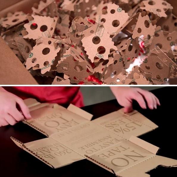 caja de cartón, Rapid Packing Container, ExpandOS