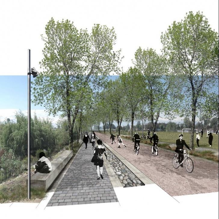 42K, Mapocho, río, ciclovía, paseo peatonal, rivera sur