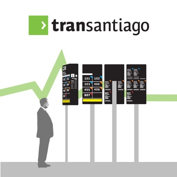 transantiago, transporte, servicios, información, usuarios, paraderos, carteles