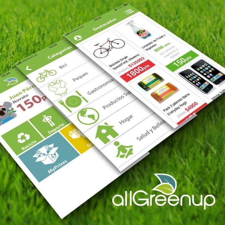 allGreenup, app, reciclaje, medioambiente, bicicleta, energía, sustentabilidad
