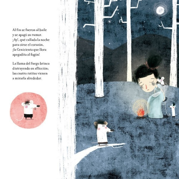 gabriela mistral, poesia ilustrada, el libro más bello, amanuta, la cenicienta, blancanieves, la bella durmiente