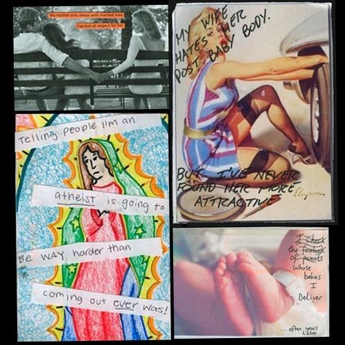 Post Secret, confesiones, desahogo, postales, psicología, Fran Solar