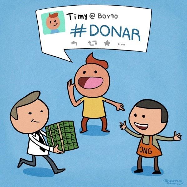 donaciones, caridad, redes sociales, internet, twitter, facebook, publicidad, marketing, marketing social