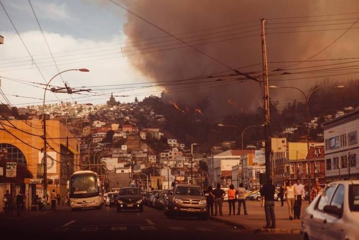 Incendio, Valparaiso, testimonio, Fran Russo, fotógrafo español