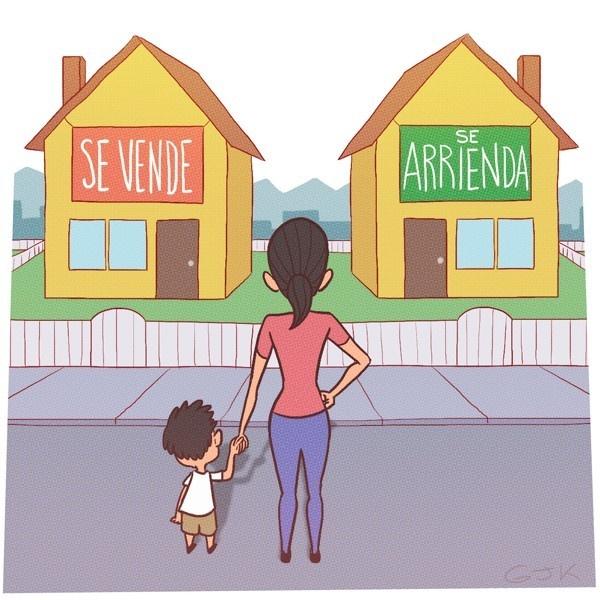 Mercado inmobiliario, arriendo, compra, casa propia, departamento, vivienda