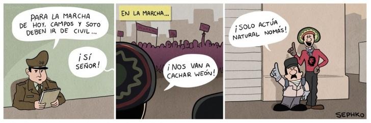 marchas, carabineros, infiltrados, policia, chile, politica, ciudad