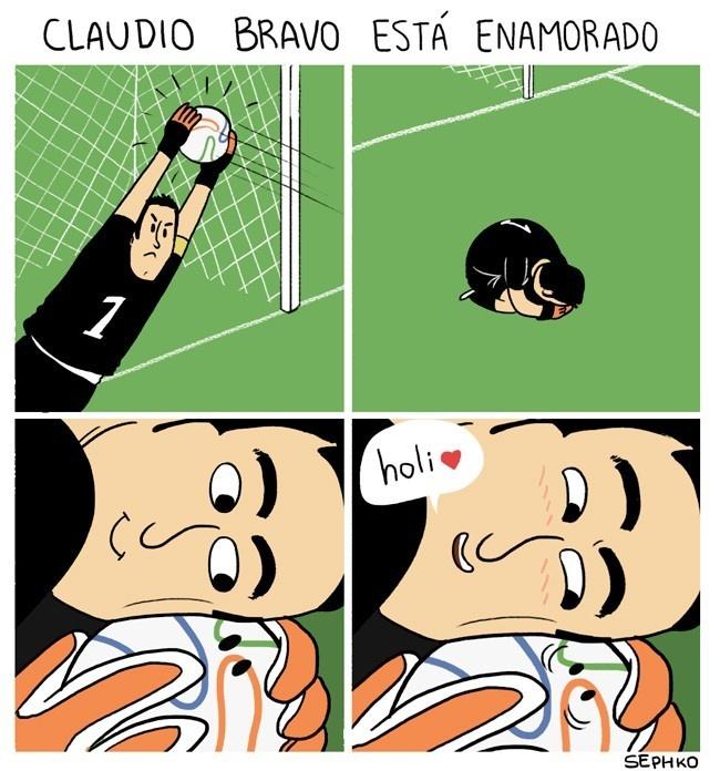 Futbol, Chile, España, Mundial, Brasil, 2014, Claudio Bravo, Arquero