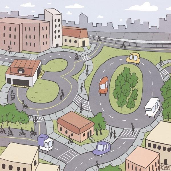 ciudad, urbanismo, barrio, ciclovías, peatones, Zonas 30, seguridad vial, medioambiente, comunidad, calidad de vida