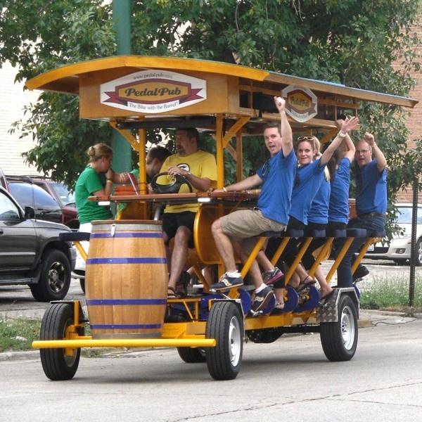 Bicicleta, bar, PedalPub, Países Bajos, Estados Unidos, cerveza, pedalear, ejercicio, beber