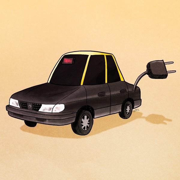 taxis eléctricos, taxi, energía eléctrica, Chilectra, sustentabilidad, medioambiente, contaminación