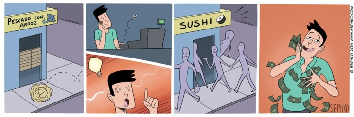 sushi, comida, comercio, emprendimiento, idea, alimento, chile, dinero