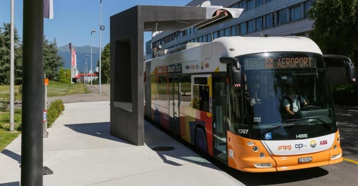 transporte público, buses, electricidad, energía, sustentabilidad, econología, medio ambiente, TOSA, Suiza, Ginebra