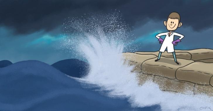 Peyton Robertson, ciencia, huracán, inundaciones, mar, sacos, solución