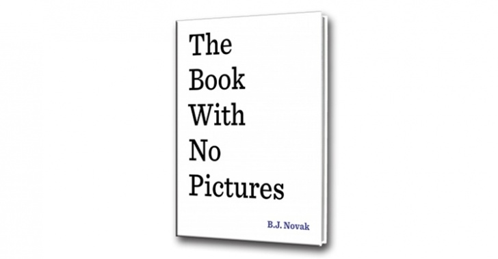 book with no pictures, libro, infantil, sin dibujos, b.j novack, the temp, the office, mindy kaling, lectura