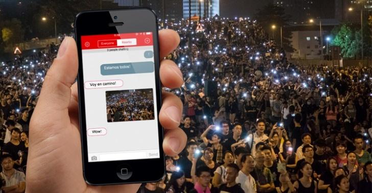 Hong Kong, FireChat, bloqueo, redes social, censura, abierta, Bluetooth, Wifi