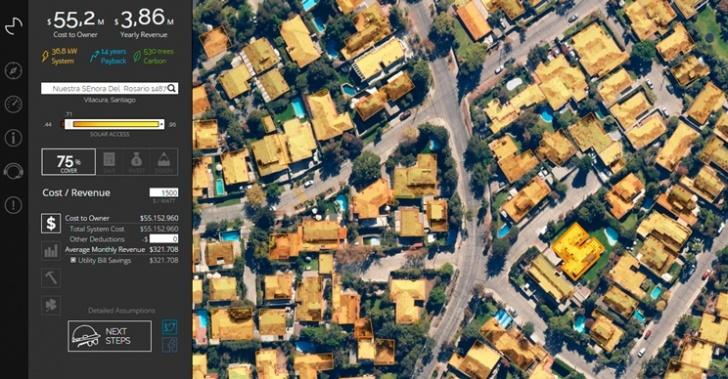 Mapdwell, energía solar, sustentable, techo, mapeo, potencial, medioambiente, pago, eléctricas, distribuidoras
