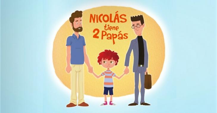 homosexualidad, familia, gays, Nicolás tiene 2 papás, padres, hijos, niños, crianza, infancia, libros, educación