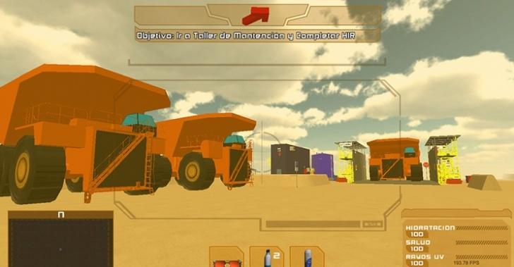 minería, trabajador, seguridad, capacitación, mina, videojuego, realidad virtual