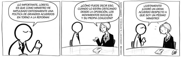 política, ministro, reforma, educación, reforma educacional, entrevistas, loreto
