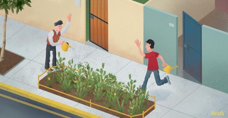 ciudad, huertos urbanos, agricultura, barrio, comunidad, vecinos, espacio público, áreas verdes, PlantaBanda, Emiliano de La Maza