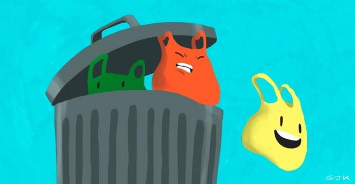 Bolsas plásticas, reciclaje, puntos limpios, prohibición prohibir, Contraloría