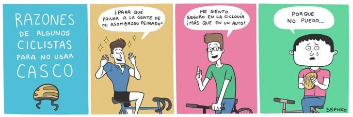 bicicleta, casco, ciudad, riesgo, seguridad, peinado