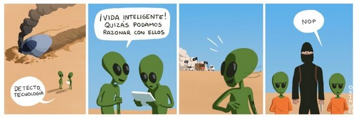 inteligencia, tecnología, especie, razonar, extraterrestres, nave espacial, ISIS, guerra, Irak