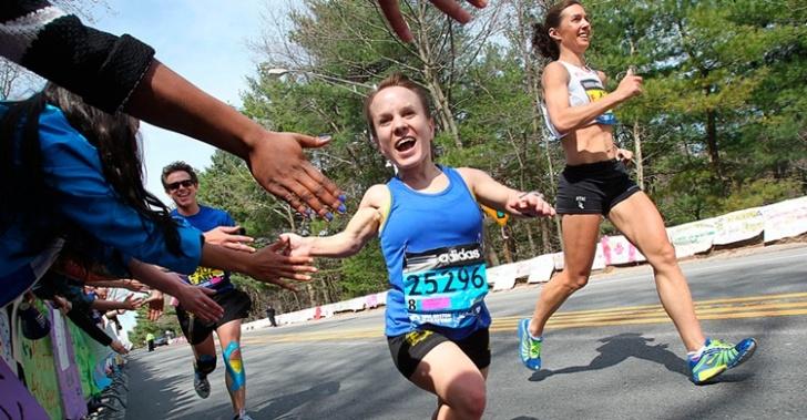 maratón, enanismo, deporte, boston