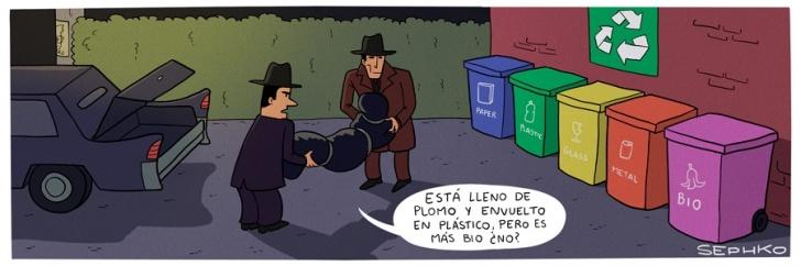 mafia, ecológico, reciclar, muerte, delincuencia, ciudad, limpio