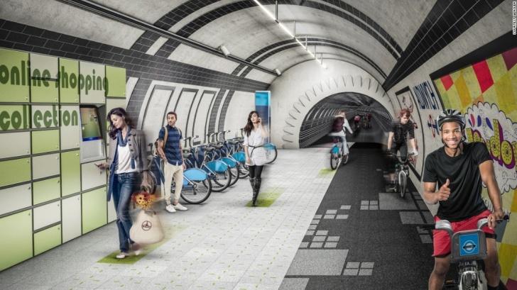 London Underline, Londres, metro, abandonado, ciclovías, paseos peatonales, sustentabilidad, energía