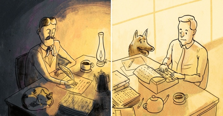escritores, hábitos, neruda, hemingway, arte, curiosidades, infografía