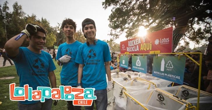 Lolapallooza, reciclaje, sustentabilidad, medio ambiente, música